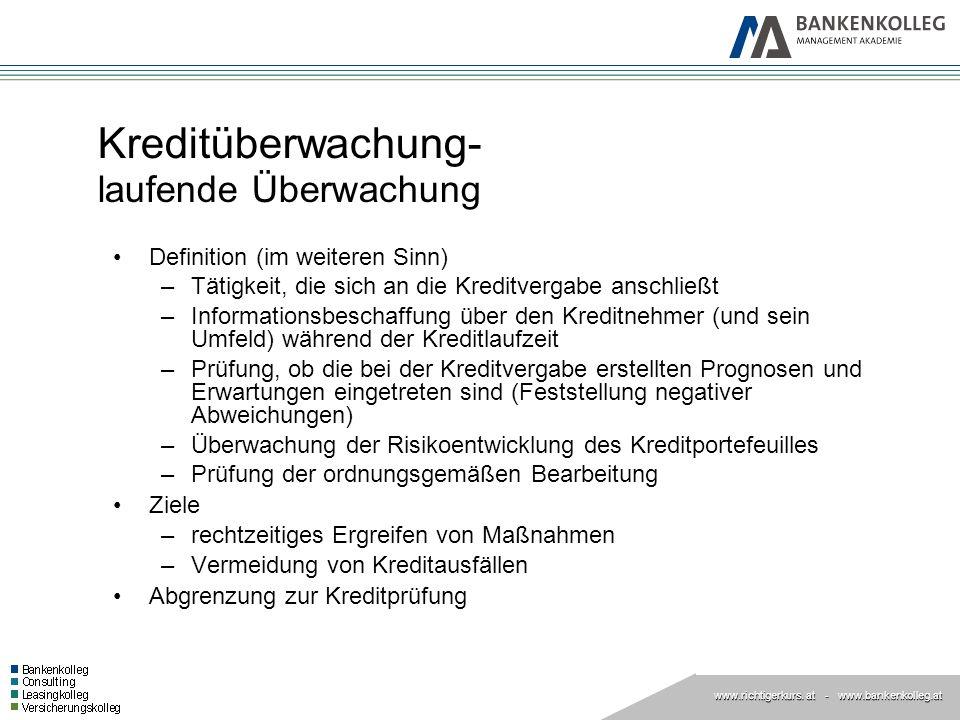 Kreditüberwachung- laufende Überwachung