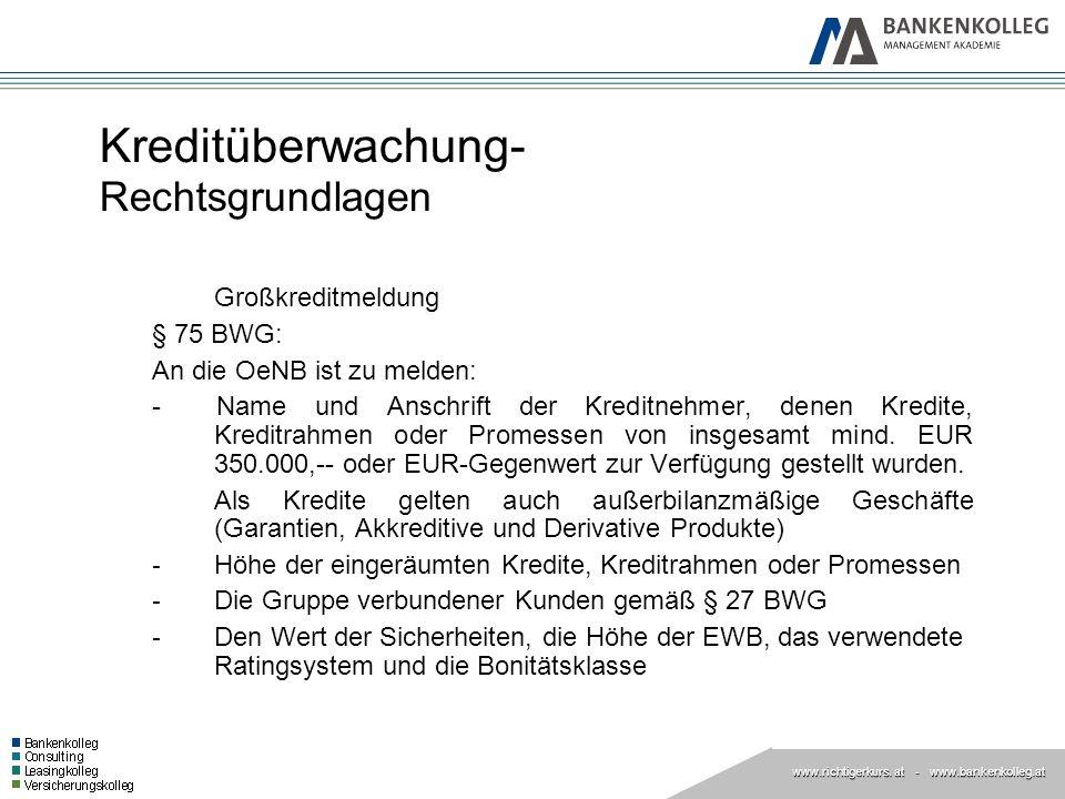 Kreditüberwachung- Rechtsgrundlagen