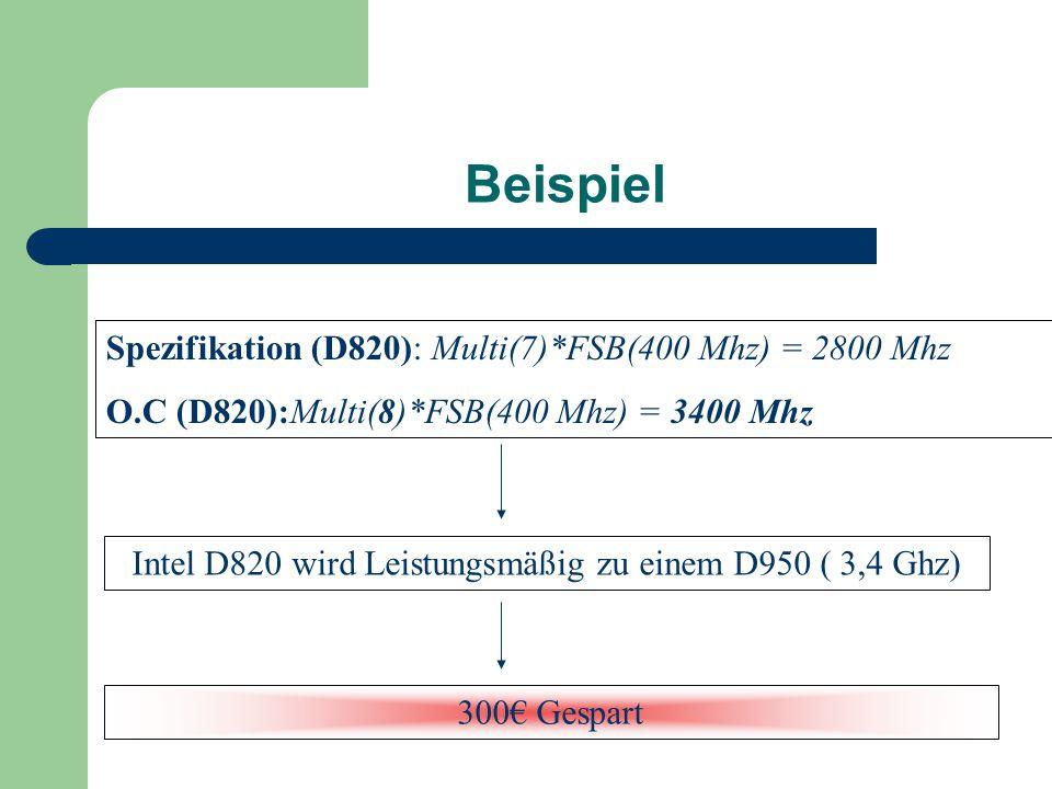 Intel D820 wird Leistungsmäßig zu einem D950 ( 3,4 Ghz)