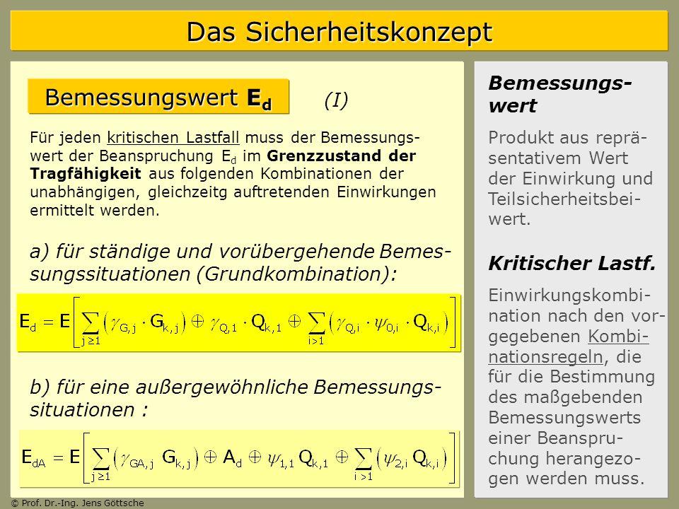 Bemessungswert Ed Bemessungs-wert (I)