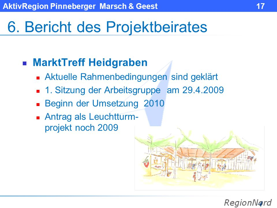 6. Bericht des Projektbeirates