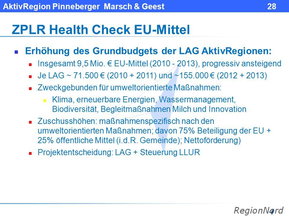ZPLR Health Check EU-Mittel
