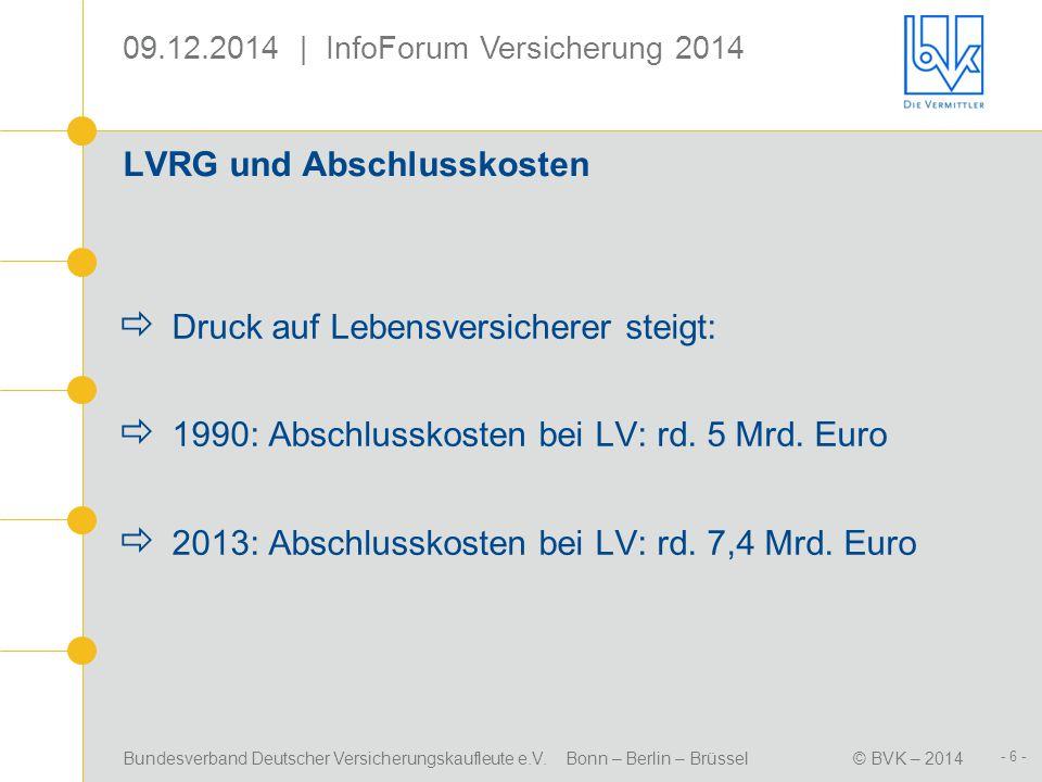 LVRG und Abschlusskosten