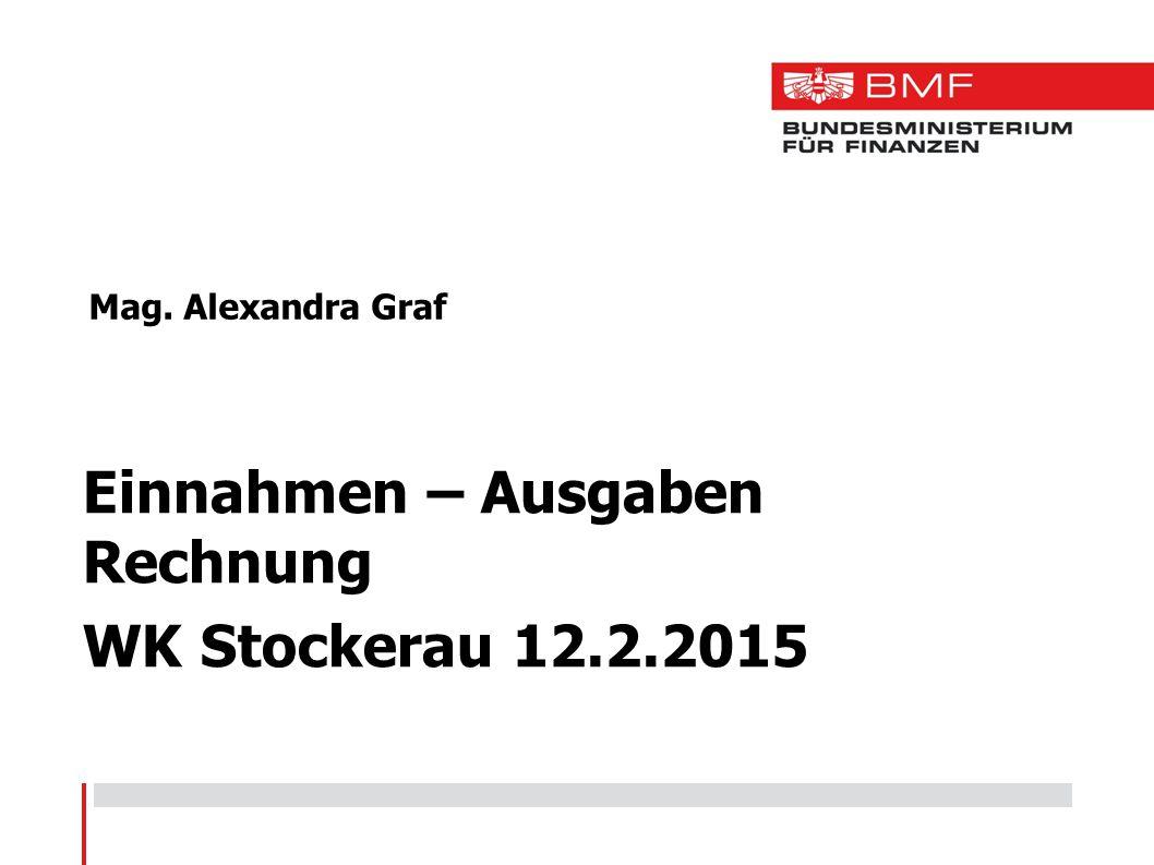 Einnahmen – Ausgaben Rechnung WK Stockerau 12.2.2015