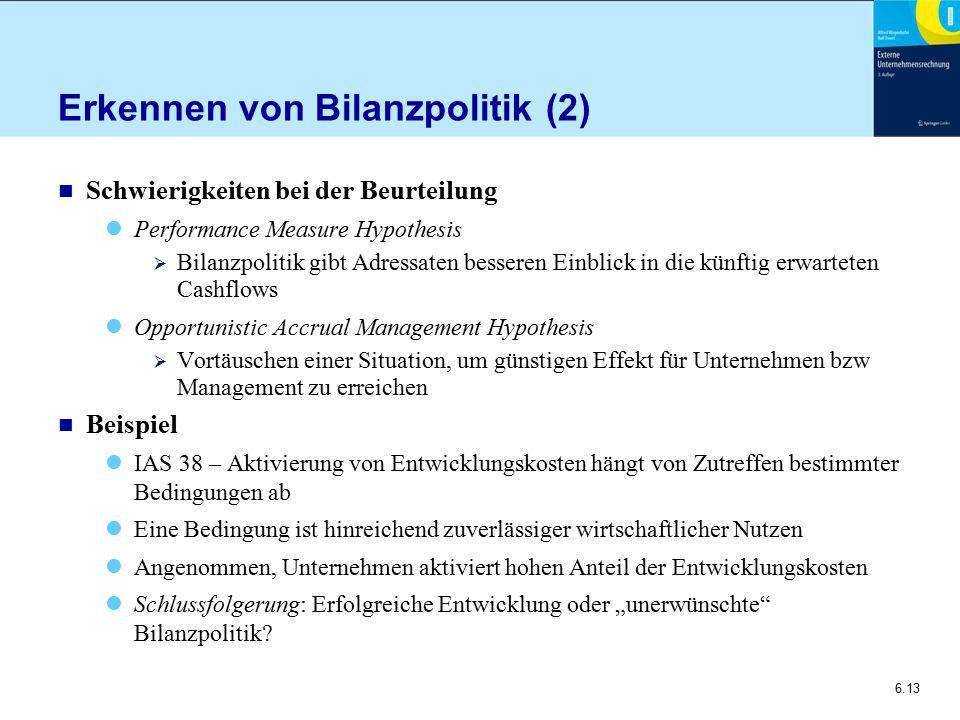 Erkennen von Bilanzpolitik (2)