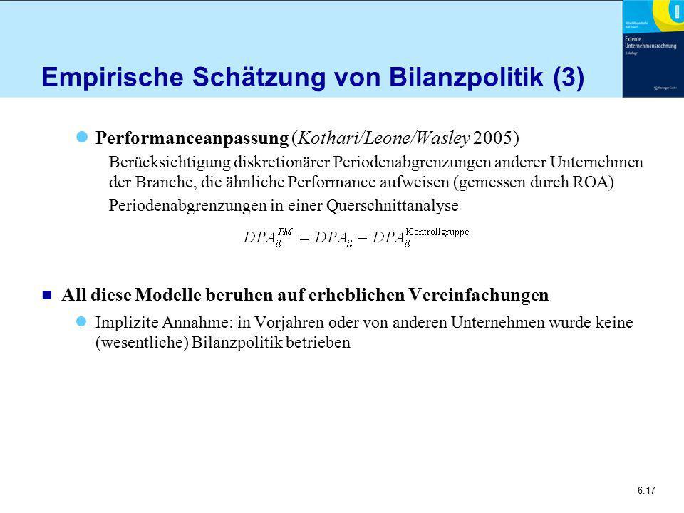 Empirische Schätzung von Bilanzpolitik (3)