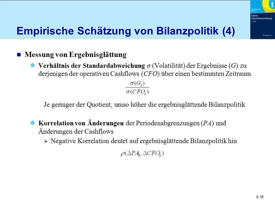 Empirische Schätzung von Bilanzpolitik (4)
