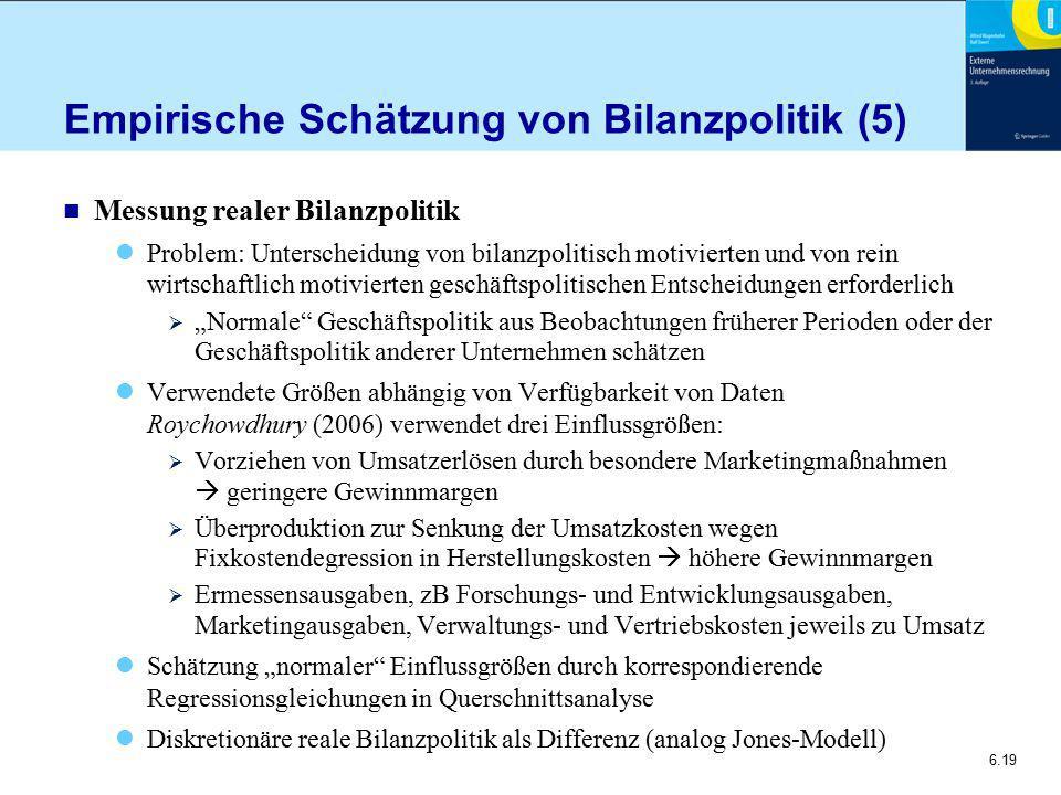 Empirische Schätzung von Bilanzpolitik (5)