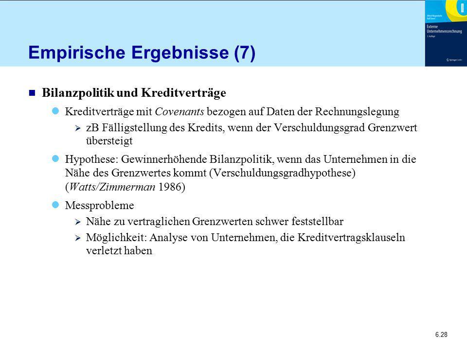 Empirische Ergebnisse (7)