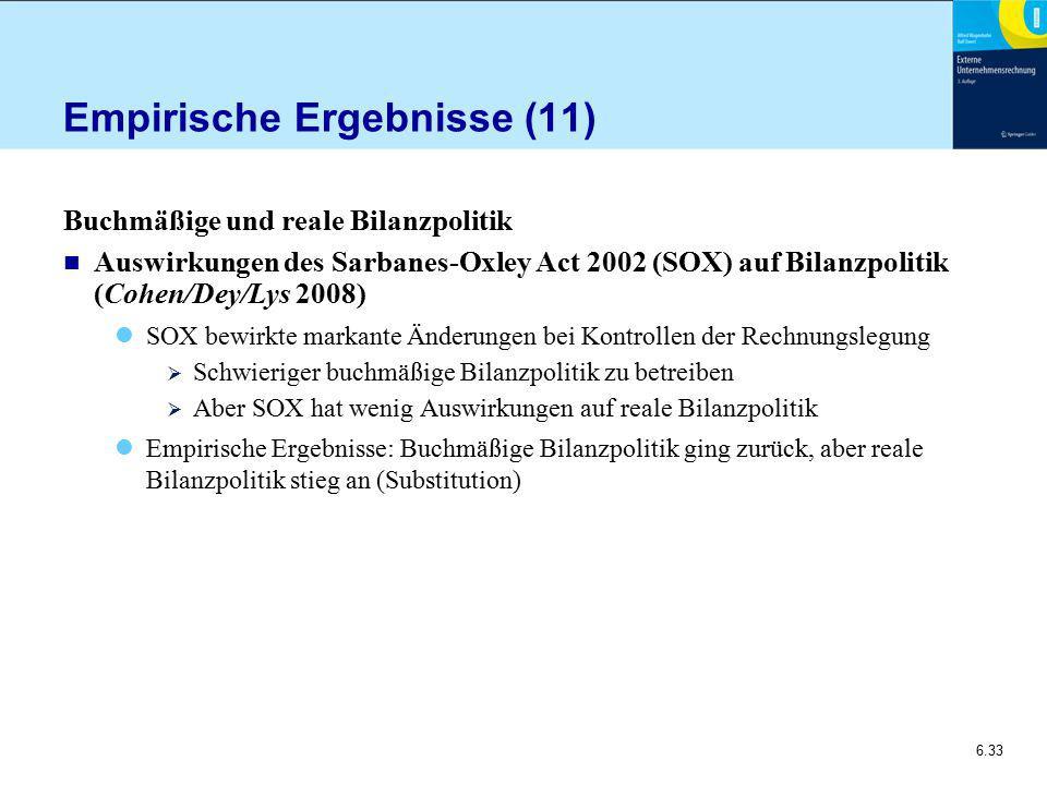 Empirische Ergebnisse (11)