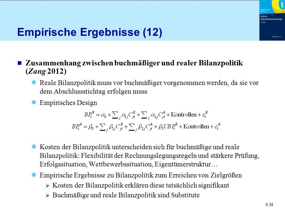 Empirische Ergebnisse (12)