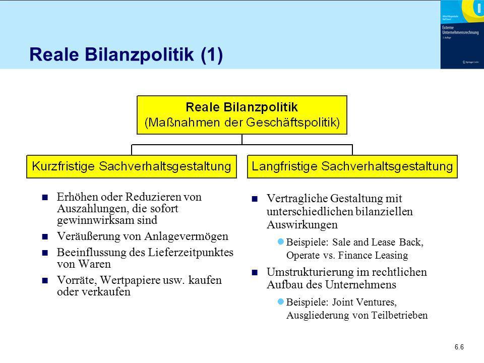 Reale Bilanzpolitik (1)