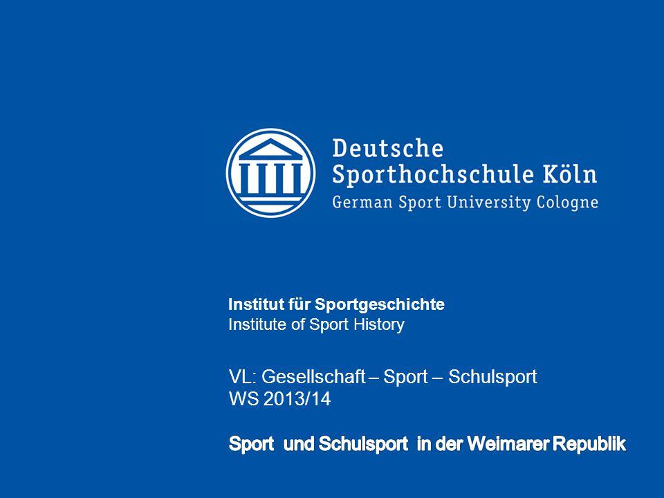 VL: Gesellschaft – Sport – Schulsport