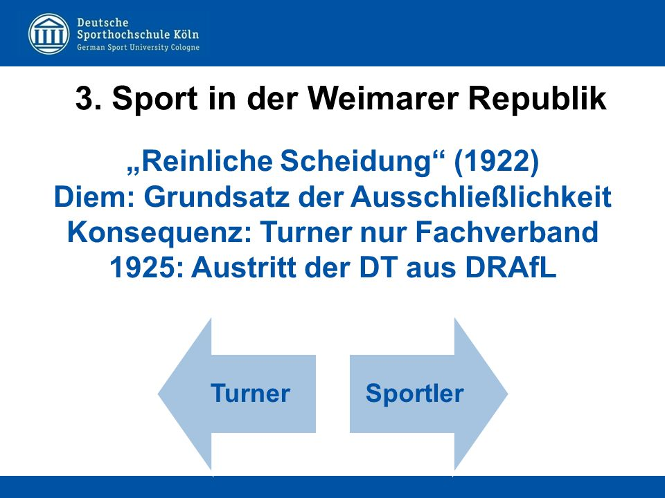 3. Sport in der Weimarer Republik