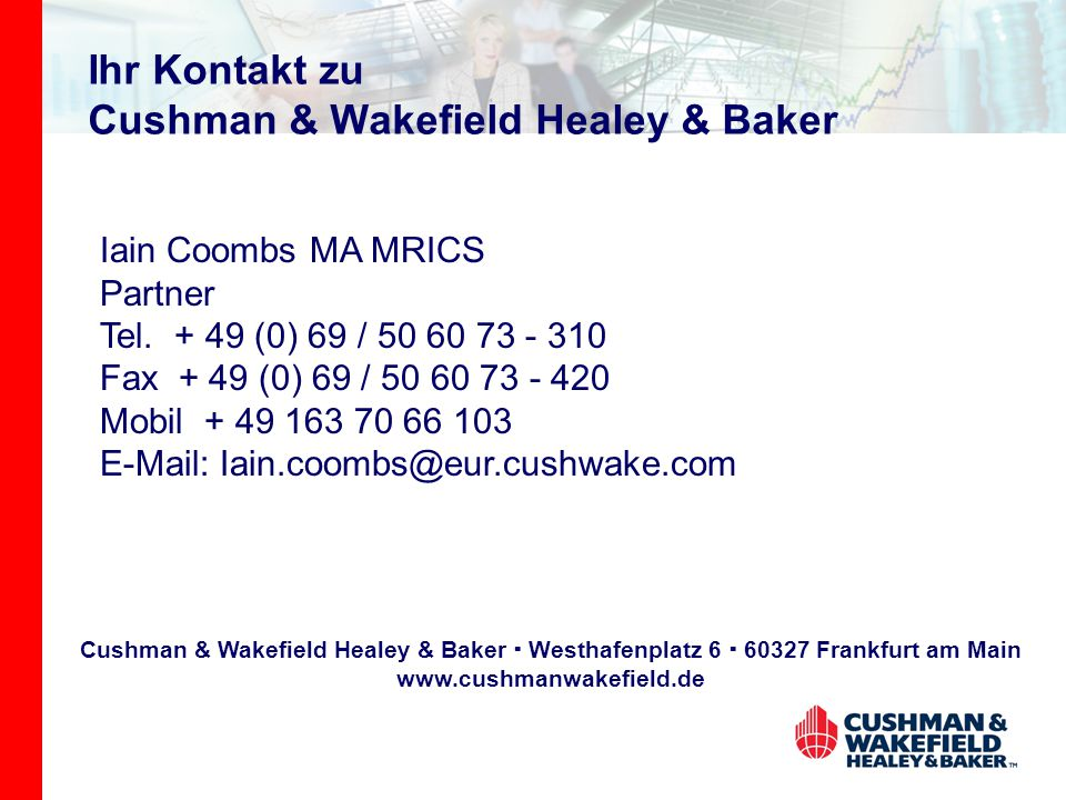 Ihr Kontakt zu Cushman & Wakefield Healey & Baker