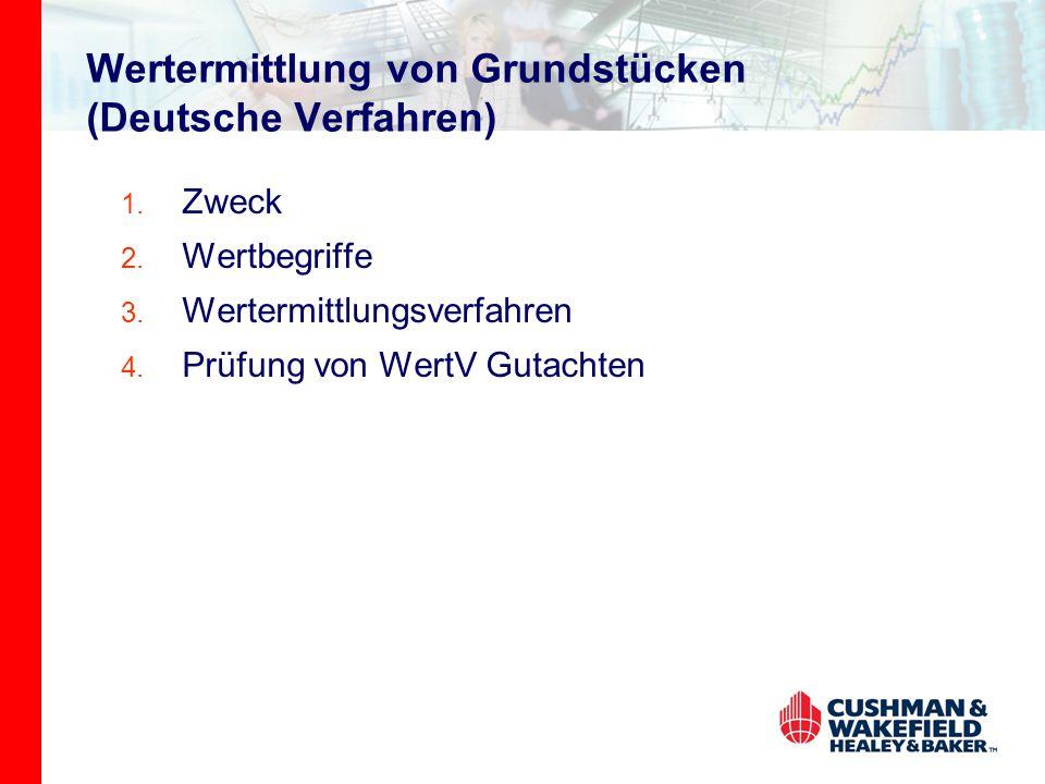 Wertermittlung von Grundstücken (Deutsche Verfahren)