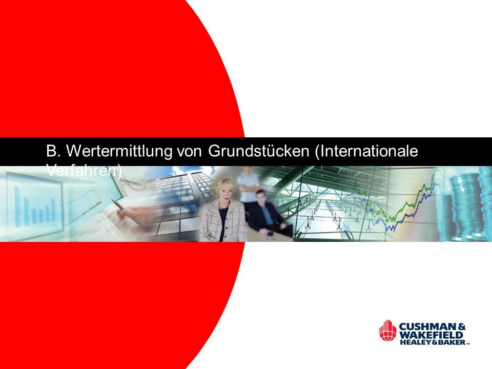 B. Wertermittlung von Grundstücken (Internationale Verfahren)