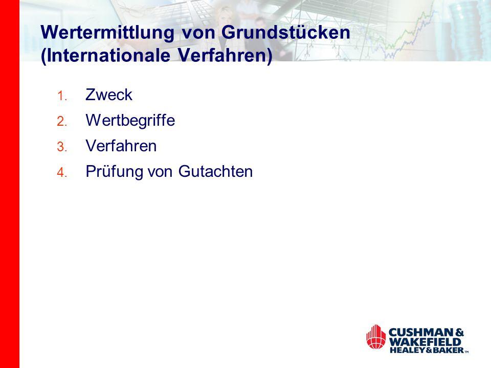 Wertermittlung von Grundstücken (Internationale Verfahren)