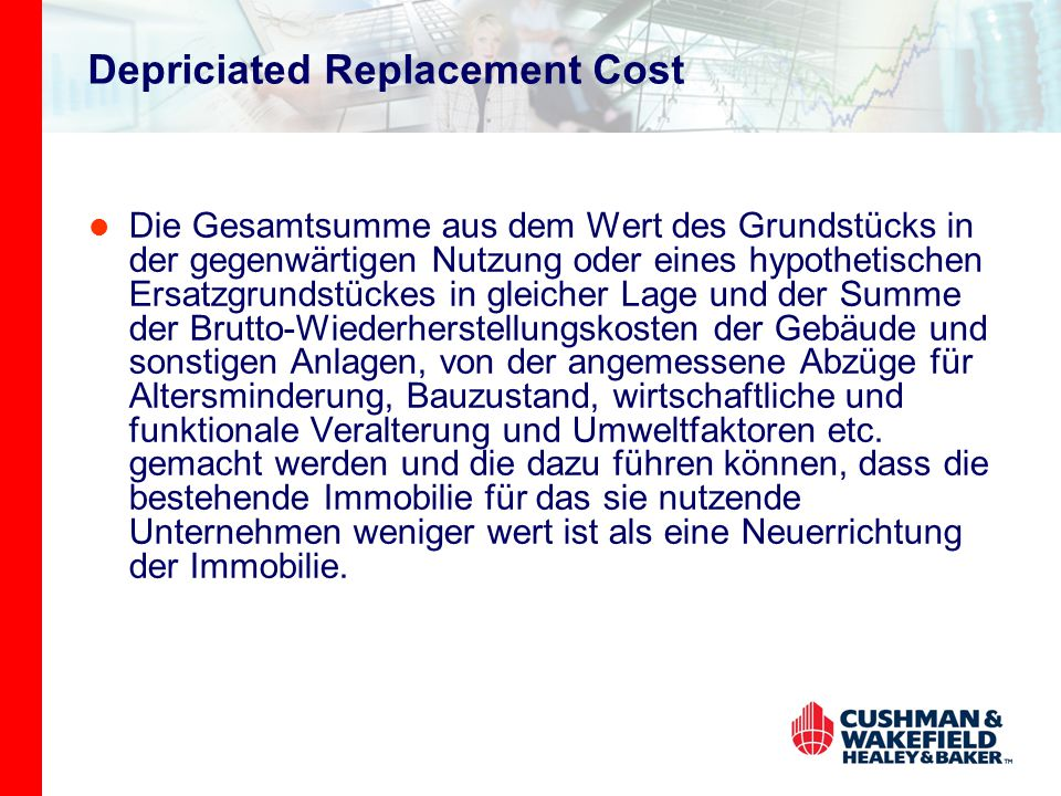 Depriciated Replacement Cost
