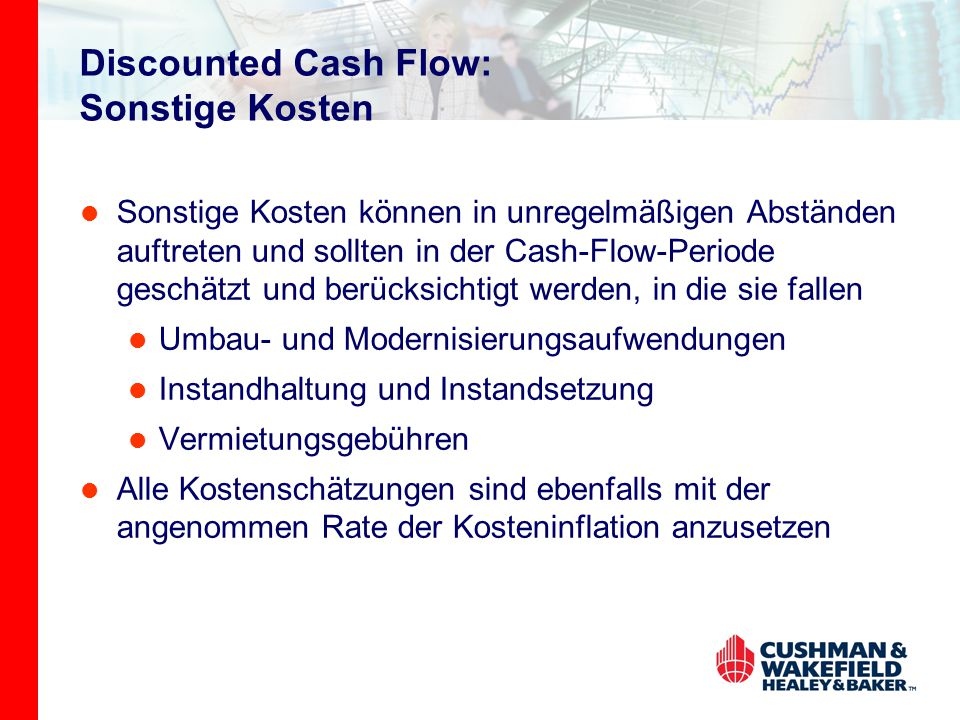 Discounted Cash Flow: Sonstige Kosten