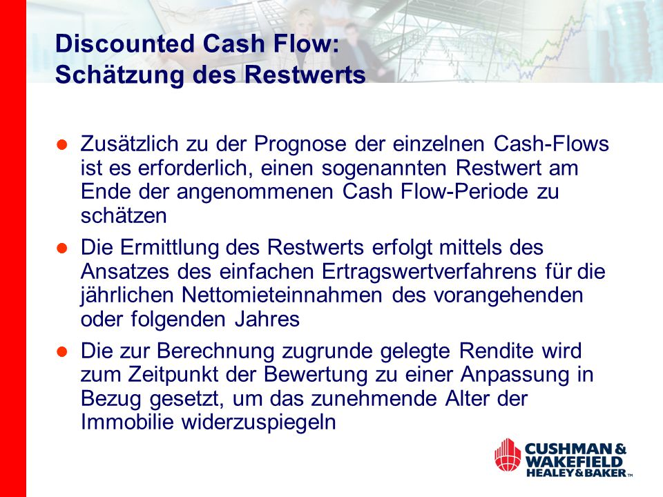 Discounted Cash Flow: Schätzung des Restwerts