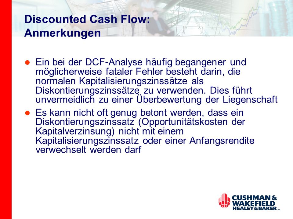 Discounted Cash Flow: Anmerkungen
