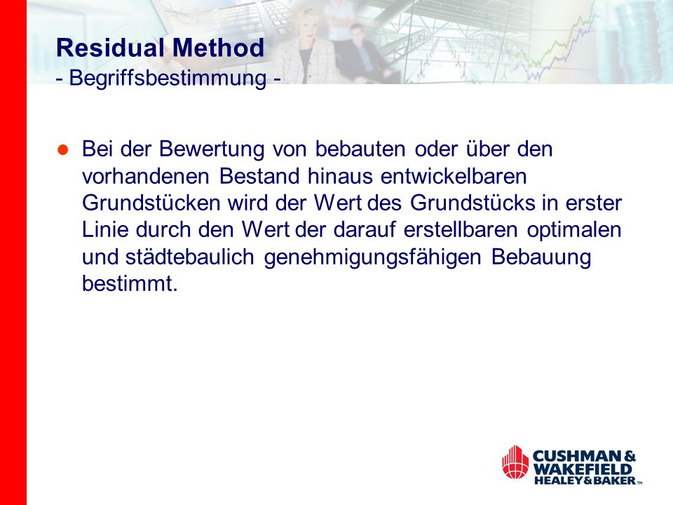 Residual Method - Begriffsbestimmung -