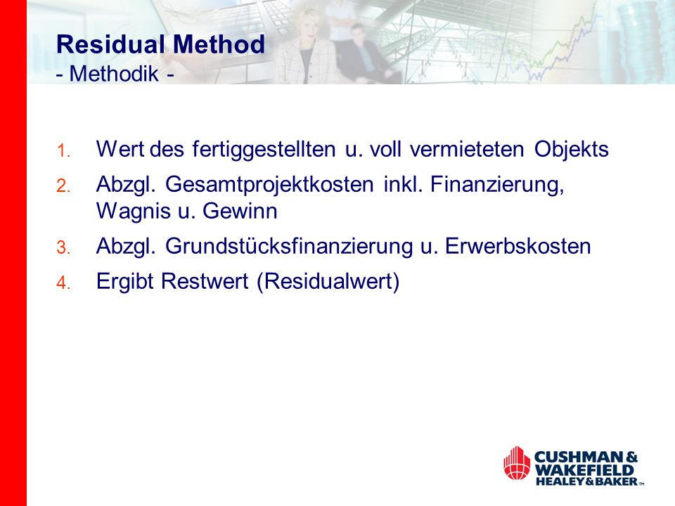 Residual Method - Methodik -