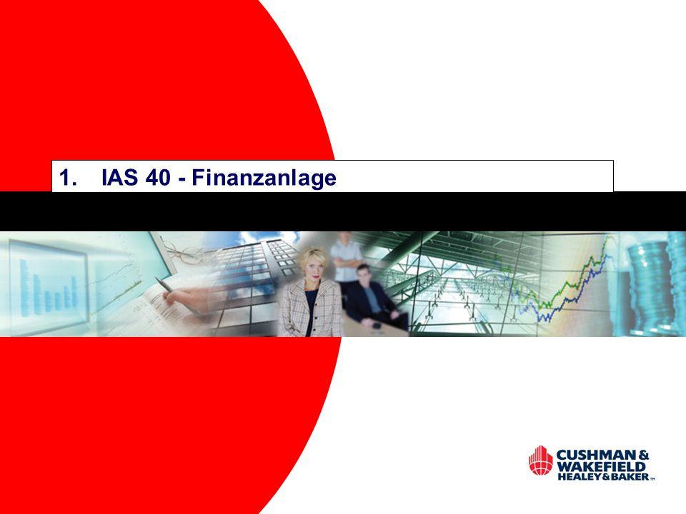 IAS 40 - Finanzanlage