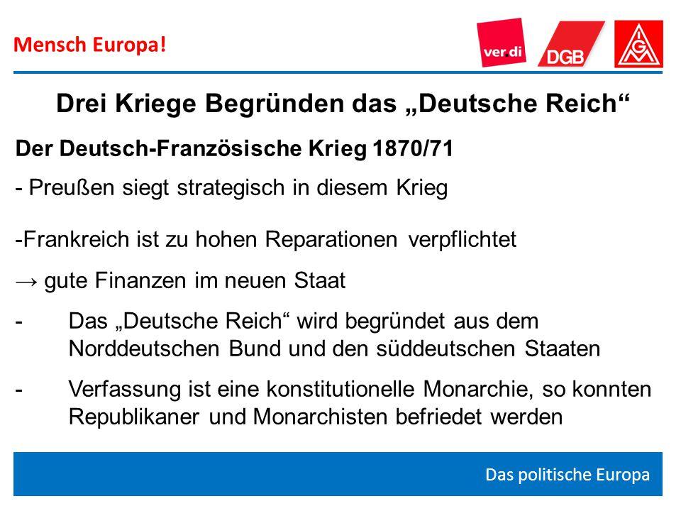"""Drei Kriege Begründen das """"Deutsche Reich"""
