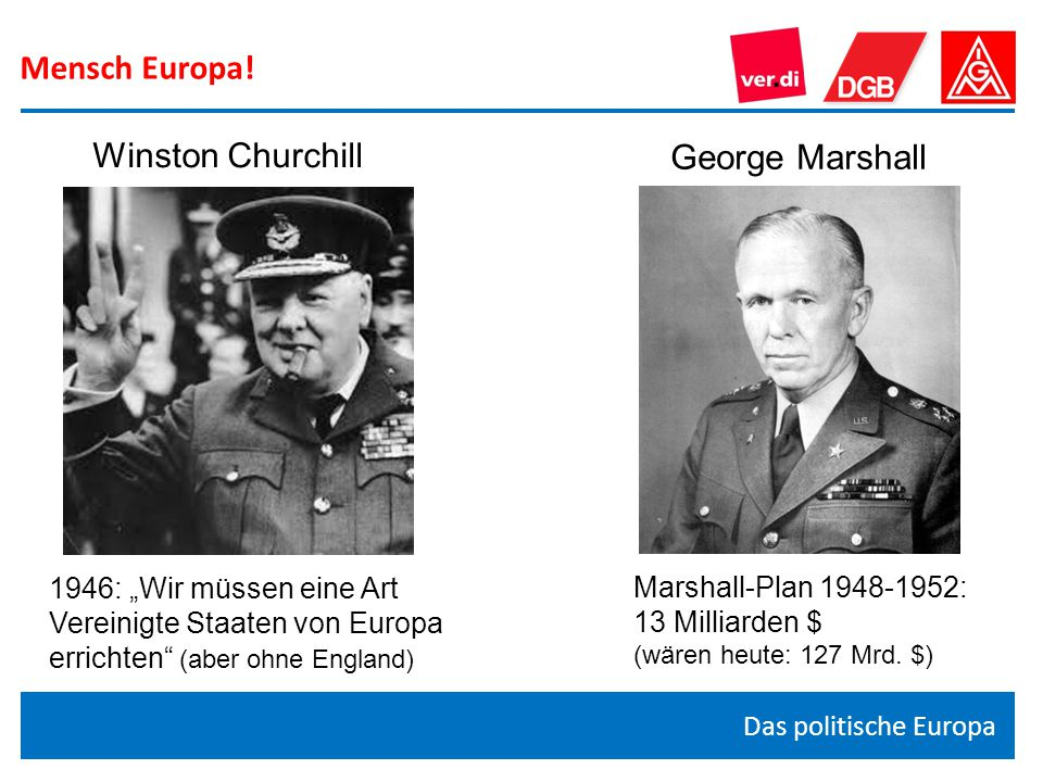 Mensch Europa! Winston Churchill George Marshall