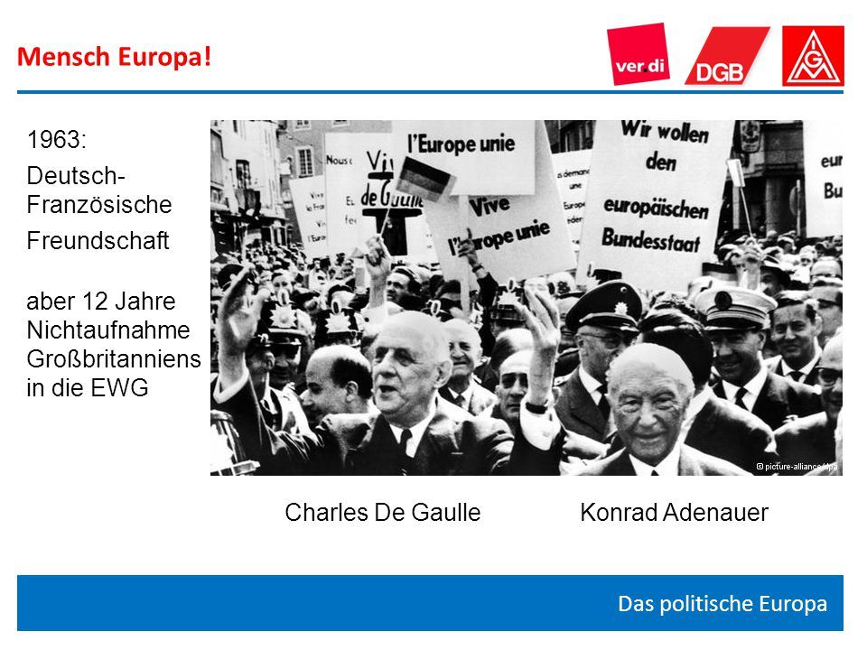 Mensch Europa! 1963: Deutsch- Französische Freundschaft