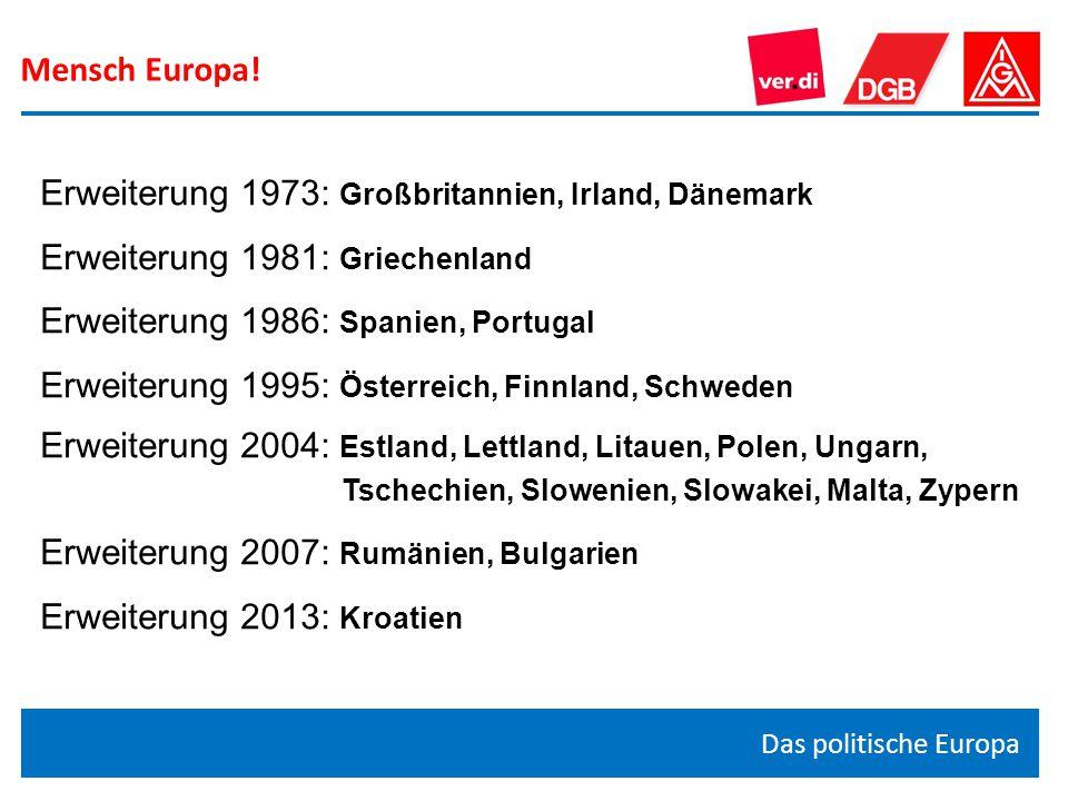 Erweiterung 1973: Großbritannien, Irland, Dänemark