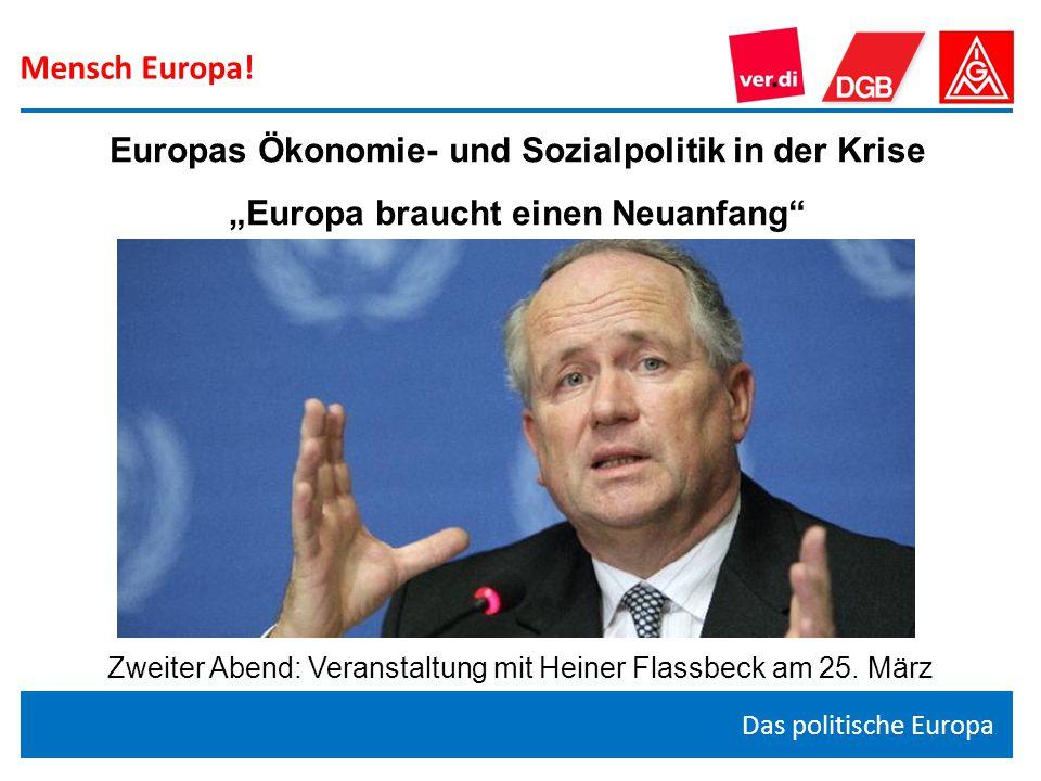 """""""Europa braucht einen Neuanfang"""