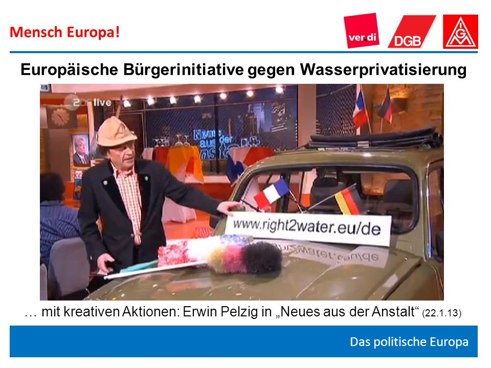 Europäische Bürgerinitiative gegen Wasserprivatisierung