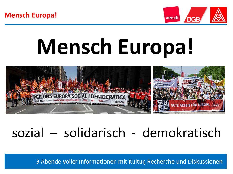 sozial – solidarisch - demokratisch