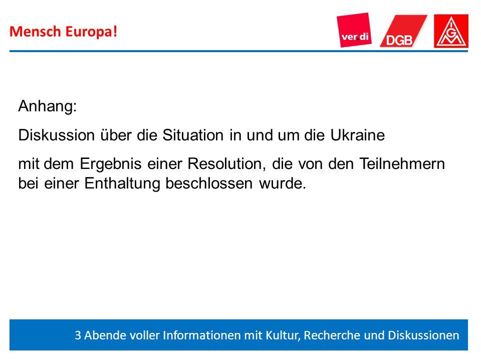 Diskussion über die Situation in und um die Ukraine