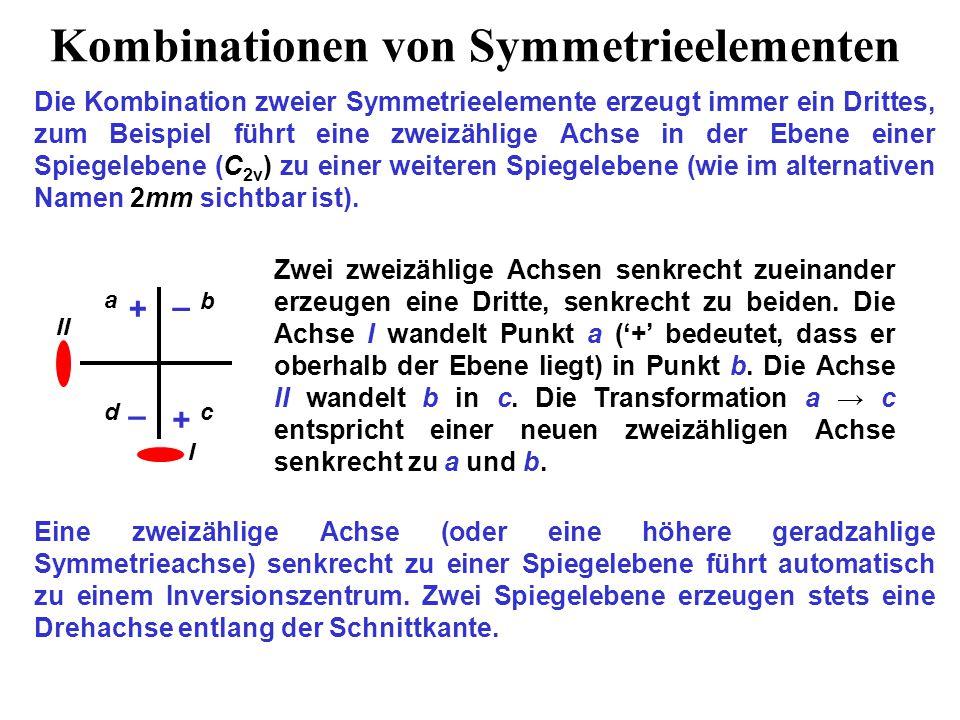 Kombinationen von Symmetrieelementen