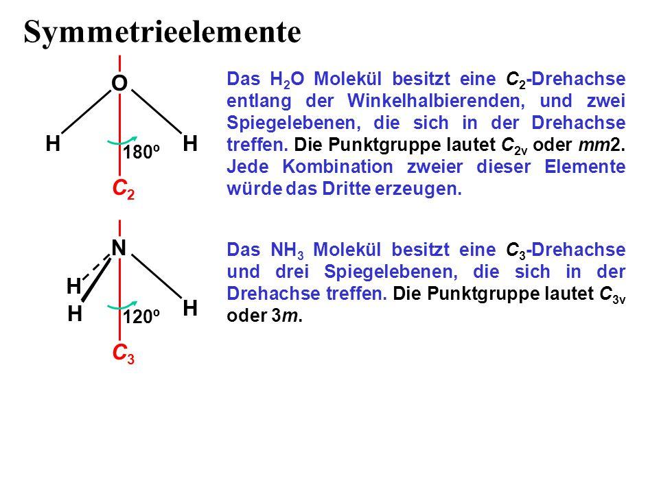 Symmetrieelemente O H H C2 N H H H C3