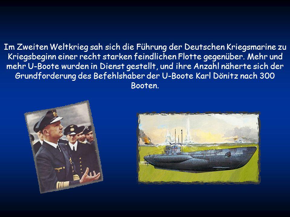 Im Zweiten Weltkrieg sah sich die Führung der Deutschen Kriegsmarine zu Kriegsbeginn einer recht starken feindlichen Flotte gegenüber.