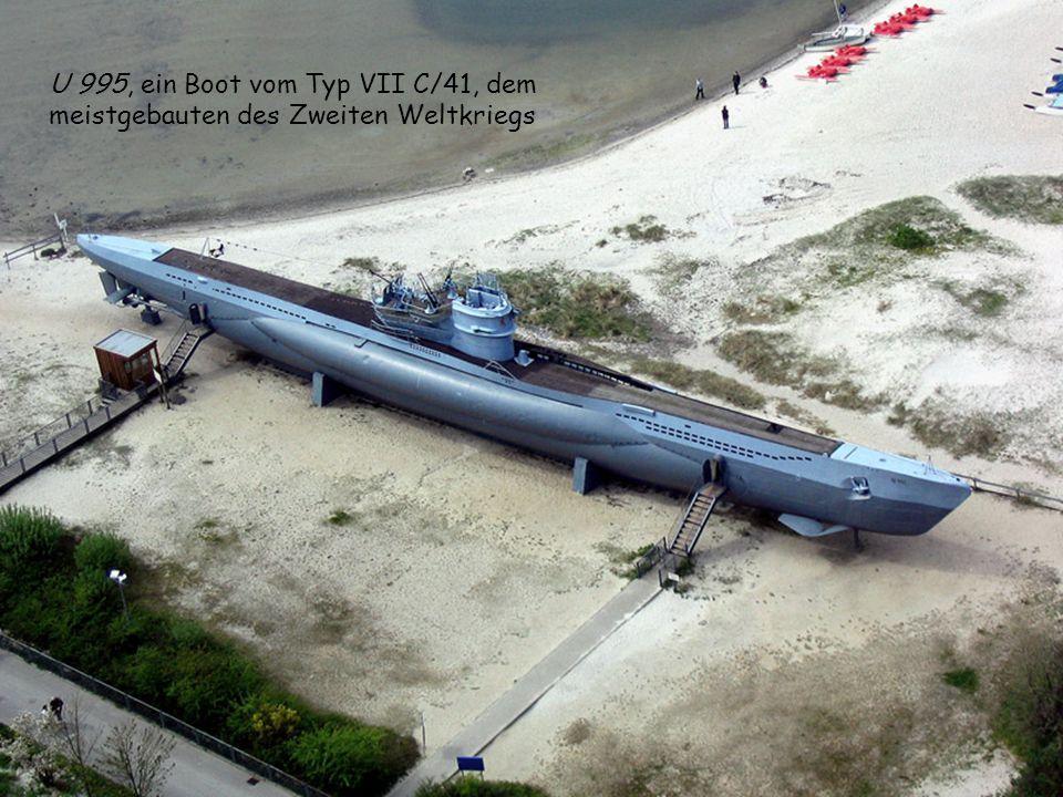 U 995, ein Boot vom Typ VII C/41, dem meistgebauten des Zweiten Weltkriegs