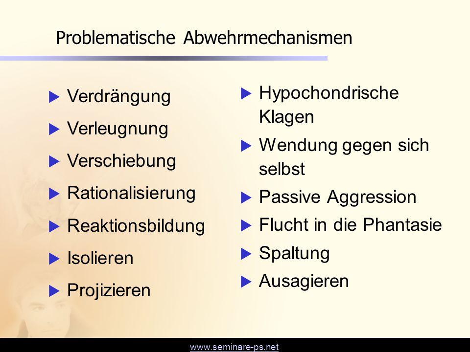 Problematische Abwehrmechanismen