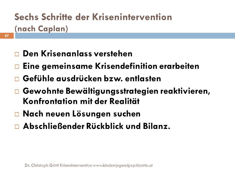 Sechs Schritte der Krisenintervention (nach Caplan)