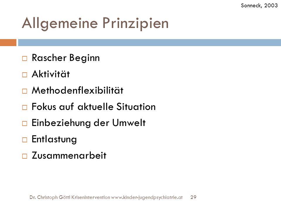 Allgemeine Prinzipien
