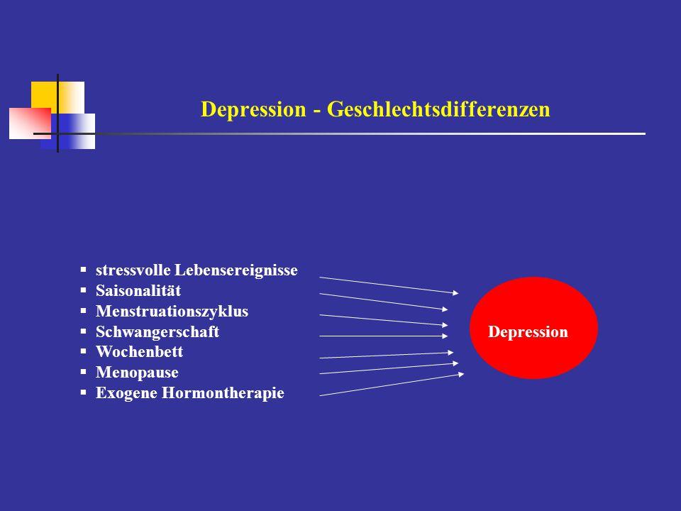 Depression - Geschlechtsdifferenzen