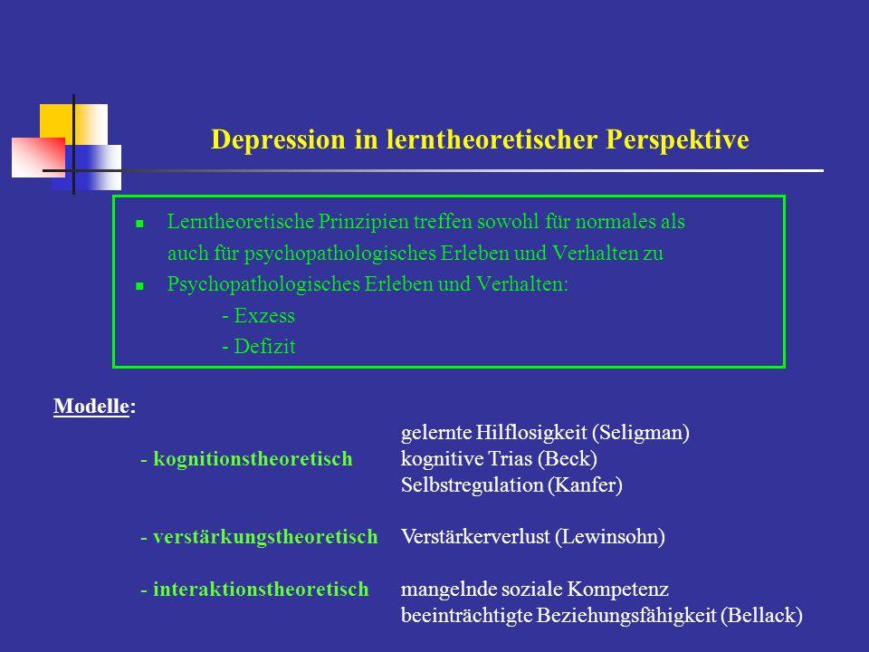 Depression in lerntheoretischer Perspektive