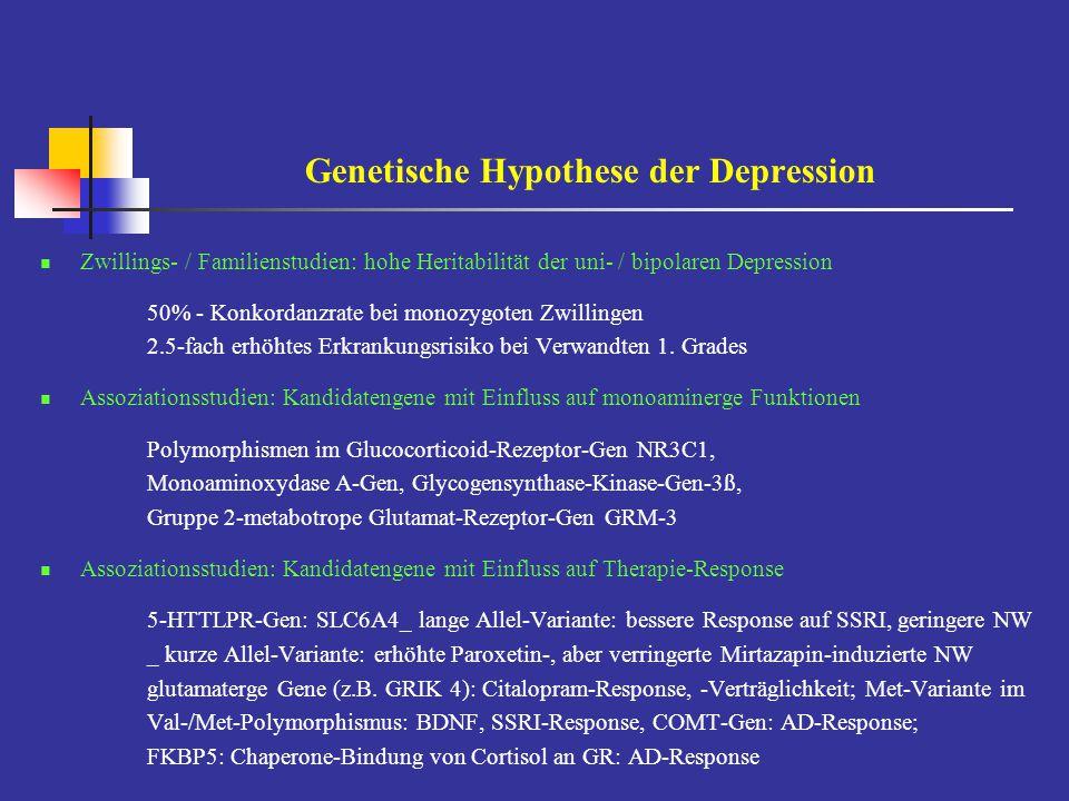 Genetische Hypothese der Depression