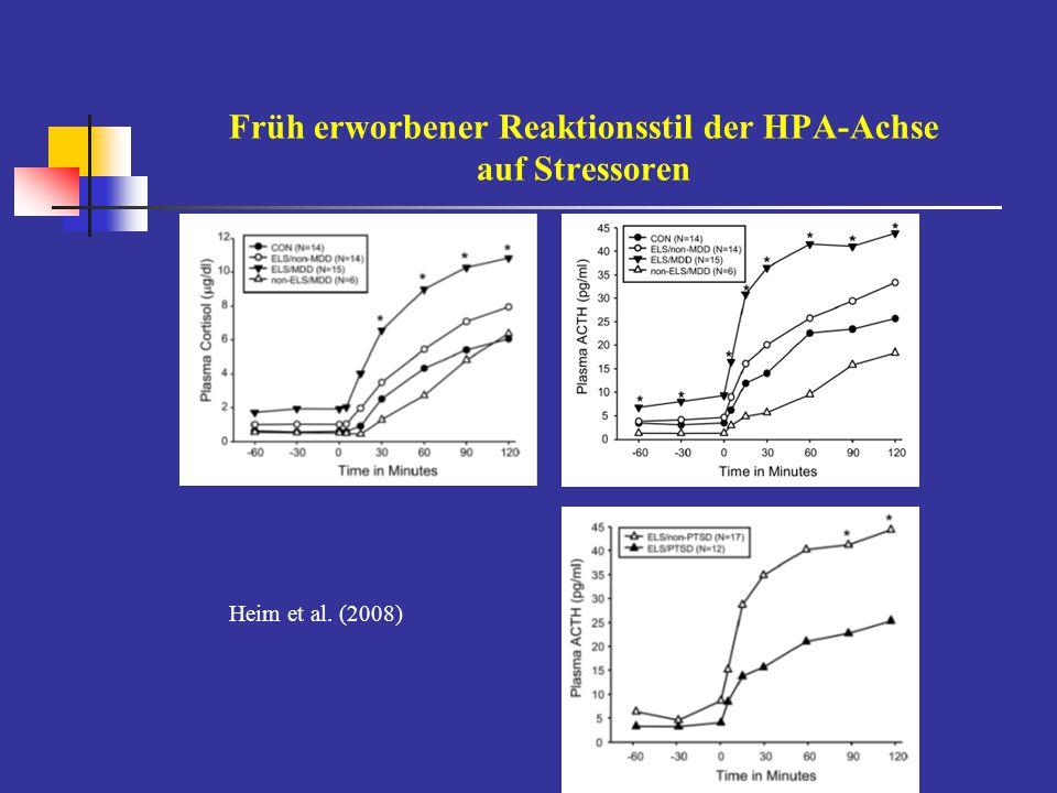 Früh erworbener Reaktionsstil der HPA-Achse auf Stressoren