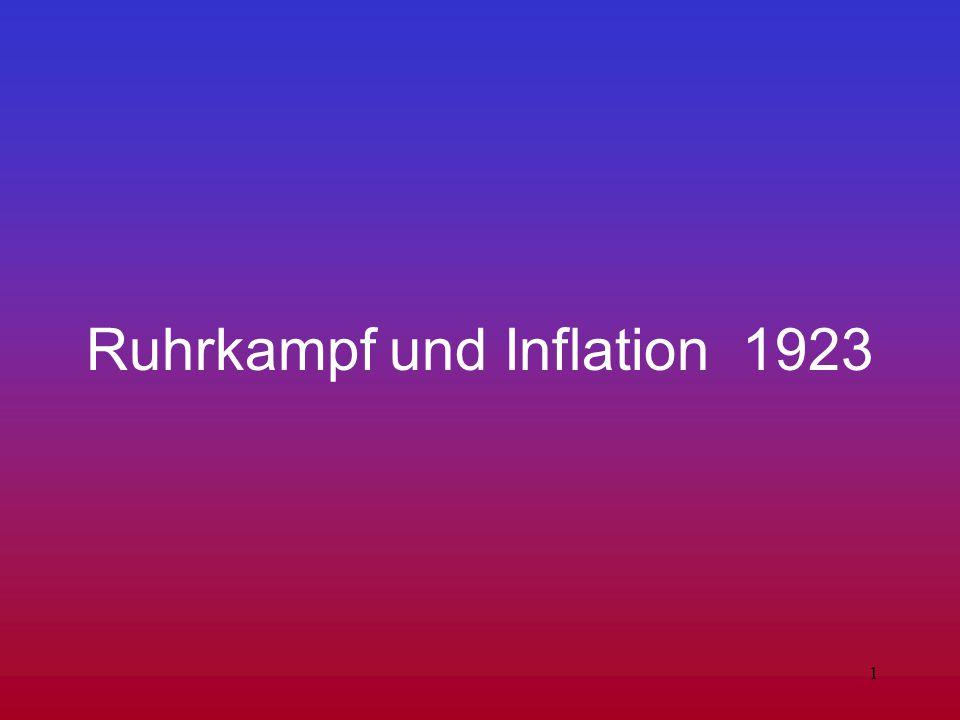 Ruhrkampf und Inflation 1923