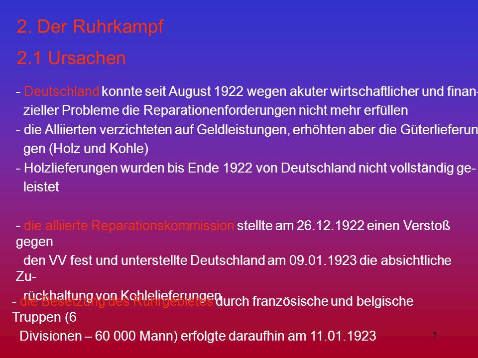 2. Der Ruhrkampf 2.1 Ursachen